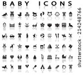 baby icons | Shutterstock .eps vector #214248766