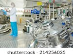 pharmaceutical factory... | Shutterstock . vector #214256035
