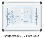 football tactic on whiteboard | Shutterstock .eps vector #214256815