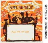 halloween party invitation... | Shutterstock .eps vector #214262935