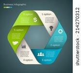 vector circle infographic.... | Shutterstock .eps vector #214270312