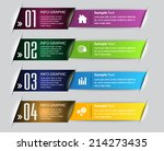 colorful modern text box... | Shutterstock .eps vector #214273435