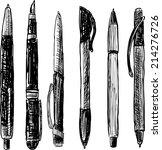 pens doodle | Shutterstock .eps vector #214276726