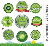 natural eco green label... | Shutterstock .eps vector #214278892