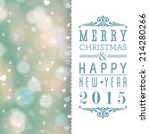 vector merry christmas and... | Shutterstock .eps vector #214280266