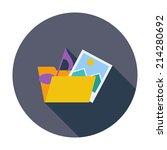 folder. single flat color icon. ... | Shutterstock .eps vector #214280692