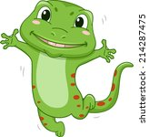 illustration featuring a gecko... | Shutterstock .eps vector #214287475