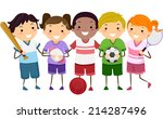 illustration featuring kids... | Shutterstock .eps vector #214287496