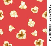seamless popcorn pattern on red ... | Shutterstock .eps vector #214289152