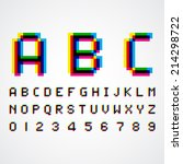 alphabetic fonts and numbers | Shutterstock .eps vector #214298722