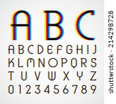 alphabetic fonts and numbers | Shutterstock .eps vector #214298728