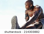 image of muscular young man... | Shutterstock . vector #214303882