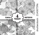 elegant seamless patterns with... | Shutterstock .eps vector #214307596