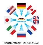g8 summit in germany   Shutterstock .eps vector #214316062
