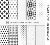 patterns with circles and dots  ... | Shutterstock .eps vector #214318918