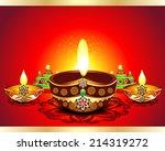 happy diwali background vector... | Shutterstock .eps vector #214319272