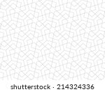 Stock vector geometric arabic seamless pattern abstract background 214324336