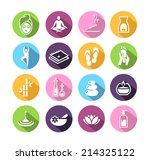 icons representing wellness ... | Shutterstock .eps vector #214325122