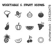 vegetable and fruit icons  mono ... | Shutterstock .eps vector #214326478