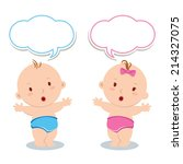 cute baby standing. cute baby... | Shutterstock .eps vector #214327075