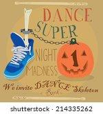 dance sneakers. vector...   Shutterstock .eps vector #214335262