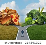 diet decision concept and... | Shutterstock . vector #214341322