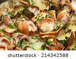 Clams In Green Sauce  Cooked...