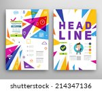 abstract triangle geometric... | Shutterstock .eps vector #214347136
