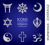 religions of the world.  vector ... | Shutterstock .eps vector #214353112