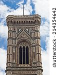 bell tower detail of florence... | Shutterstock . vector #214354642