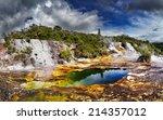 orakei korako geotermal area ... | Shutterstock . vector #214357012
