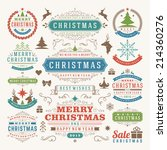 christmas decoration vector... | Shutterstock .eps vector #214360276