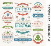 christmas decoration vector... | Shutterstock .eps vector #214360282