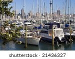 AUCKLAND - 30 November, 2008:  Auckland city is New Zealand's largest.  The city has the world's highest number of yachts per head of population.  Auckland, New Zealand 30 November 2008. - stock photo