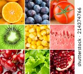 healthy fresh food background.... | Shutterstock . vector #214374766