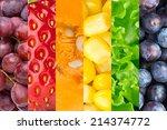 healthy food background.... | Shutterstock . vector #214374772