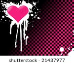 Pink Emo Heart Background ...