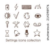 settings icons collection. eps... | Shutterstock .eps vector #214398976