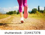 closeup of woman shoes on... | Shutterstock . vector #214417378