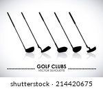 Golf Design Over Gray...