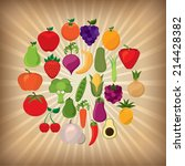 fruits and vegetables design ... | Shutterstock .eps vector #214428382