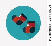 socks flat icon with long...
