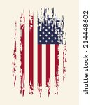 background with aged usa flag ... | Shutterstock .eps vector #214448602