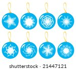 vector xmas baubles set | Shutterstock .eps vector #21447121