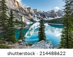 evening at moraine lake taken... | Shutterstock . vector #214488622