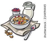 cereal breakfast | Shutterstock .eps vector #214494445