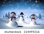 snow family against white... | Shutterstock . vector #214495216