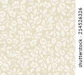 seamless hand drawn floral...   Shutterstock . vector #214526326