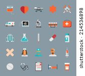 vector medical icons 25 set | Shutterstock .eps vector #214536898