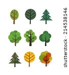 different trees collection... | Shutterstock .eps vector #214538146
